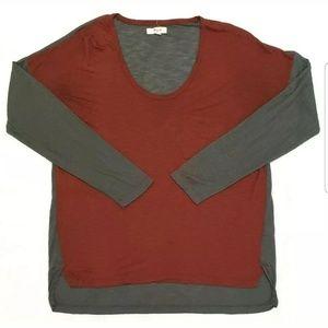Madewell Womens Shirt Long Sleeve Hi Low B1914